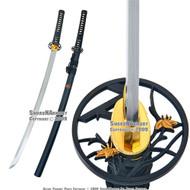 Handmade Paulownia Mon Samurai Katana Sword Sharp Blade