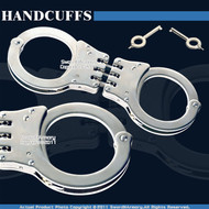 Steel Triple Hinged Double Lock Handcuffs Spare Key CH