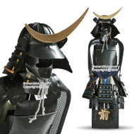 "15.5"" Tall Date Masamune Shogun Japanese Samurai Armor Miniature Statue"