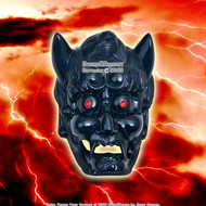 Japanese Kami Mask Sai Wall Mount Holder Black