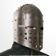 Functional Antique Look Spangenhelm Medieval Viking Helmet 16G Steel SCA LARP