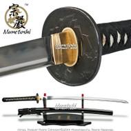 Munetoshi Raiden Handforged T10 Blade Katana Samurai Sword w/ Bohi Kami Tsuba