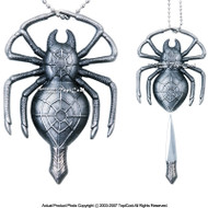 "Fantasy Spider Necklace with Knife With 30"" Chain (New)"