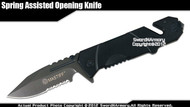 Mastiff  Rescue Folding Assisted Opening Tactical Knife 7CR17MOV Steel Blade BK