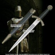 Medieval Knights Templar Long Sword Fantasy Dagger with Sheath Letter Opener
