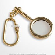 Handmade Brass Miniature Magnifier Car Keychain Keyring Nautical Gift Souvenir