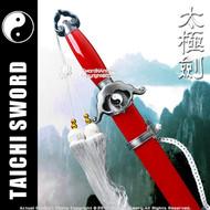 Red Spring Steel Jian Chinese Tai Chi Kung Fu Practice Sword Unsharpened
