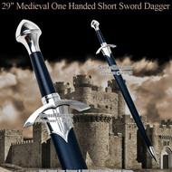 """29"""" One Handed Medieval Crusader Knight Short Sword"""