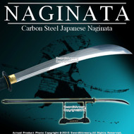"Functional 69.5"" Carbon Steel Japanese Samurai Naginata"