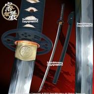 Factory Second Munetoshi T10 Hand Forged Folded Kobuse Katana Sword Monshou *Non-functional*