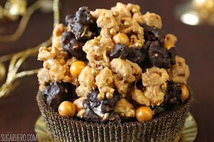 Double Caramel Popcorn Brownies recipe