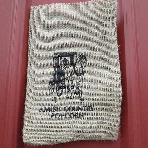 Burlap Bag Horse and Buggy | Amish Country Popcorn in Indiana