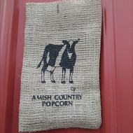Cow Burlap Bag | Amish Country Popcorn in Indiana