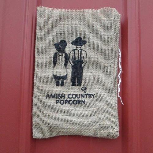 Amish Children Burlap Bag | Amish Country Popcorn in Indiana