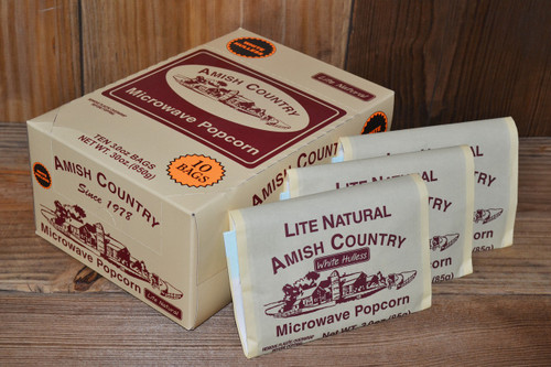 60ct Case Lite Natural Microwave Hulless Popcorn