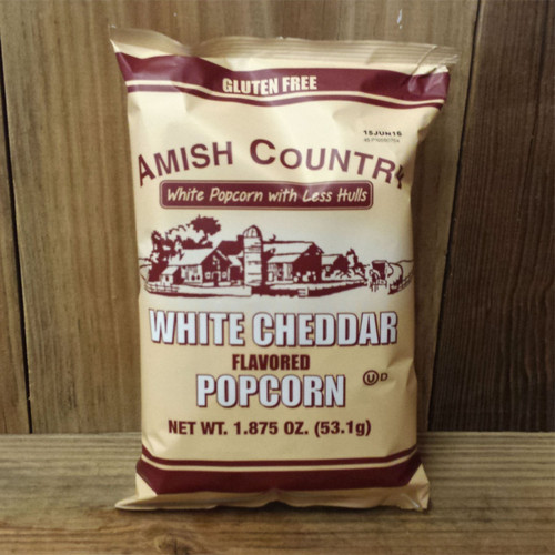 Hulless White Cheddar Popcorn | Amish Country Popcorn