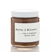 Marble and Milkweed Raw Honey Rose and Cardamom Facial Scrub