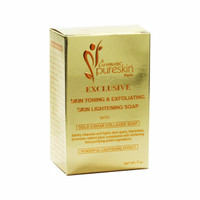 CureMedix Pureskin Lightening & Exfoliating Soap w/ Gold Caviar Collagen 7oz/200g