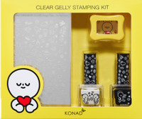 Konad Clear Gelly Stamping Set (Yellow)