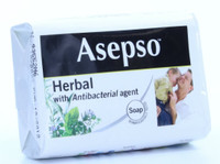 Asepso Herbal Soap with Antibacterial Agent 4.4oz/125g (Minor Packaging Defect - Product New)