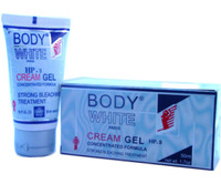 Body White Cream Gel Strong Bleaching Treatment 1.70 oz / 50 ml