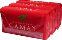 Camay Classic(Red) Soap 3 PC(pk) 4.4 oz/125g *3