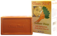 Clear Fast Carrot Soap W/hq Carrot Oil & Olive Oil 7oz