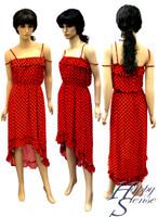 Dress High Low Polka Dot (P-280-M Red&Black)
