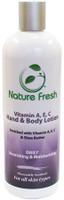Nature Fresh Vitamin A E C Hand & Body Lotion(Silver) 16 oz