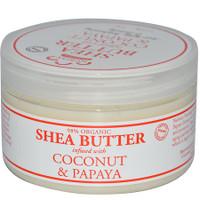 Nubian Heritage Coconut & Papaya Infused Shea Butter Jar  4oz /120ml