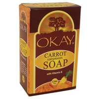 Okay Carrot Complexion Soap W/Vit E 3.24oz/92g