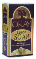 Okay Lemon Soap W/Vit C For Clean,Fresh Complexion 3.24oz/92g