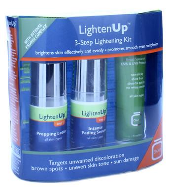 omic lighten up 3 step lightening kit with intense fading