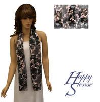 Satin Stripe Scarf Long Cherry Blossom (SSPO 1460)