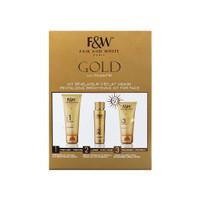 Fair & White Gold Brightening Kit (Cream, Serum, Sunscreen)