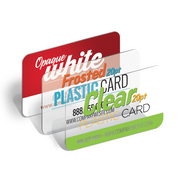Clear Plastic Business Cards with Round Corners 4/0