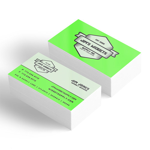 Same day business cards printed cheap and fast in Atlanta. Your choice of 12pt or 16pt with round corners or standard corners.