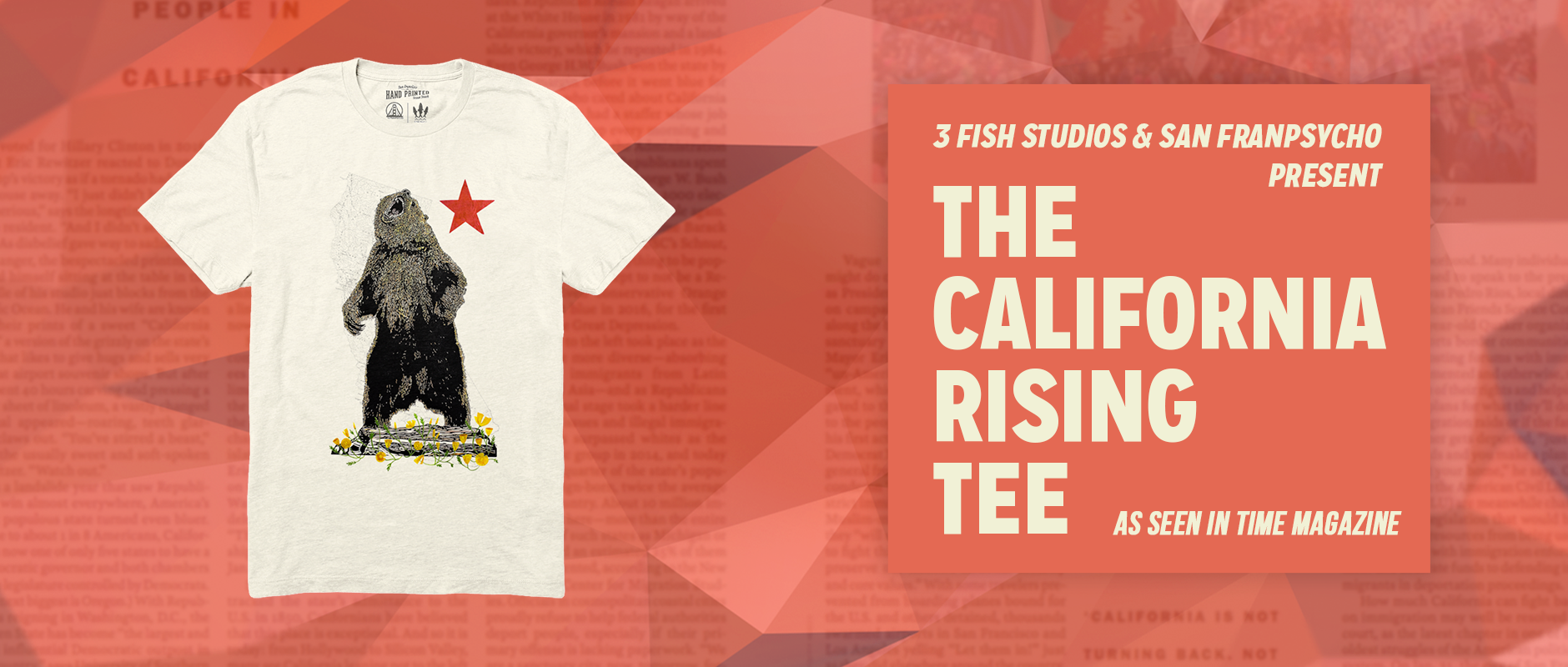 Get the new California Rising tee