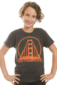 Kids Black & Orange Logo Tri-Blend Tee