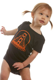 Black & Orange Logo Onesie