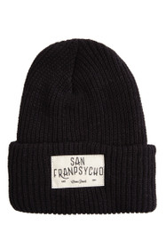 Black Knit Ocean Beach Beanie