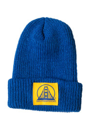 Blue & Gold Logo Knit Warriors Beanie