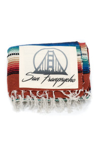 San Franpsycho Bridge Outdoor Blanket w/ Strap (Red)
