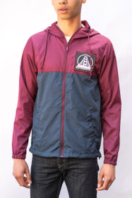 Maroon and Navy Windbreaker