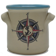 Small Crock - Compass Rose