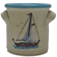 Small Crock - Sailboat