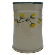 Utensil Holder - Gold Flower Vine