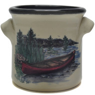 Small Crock - Canoe