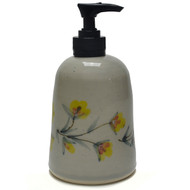 Soap Dispenser - Gold Flower Vine