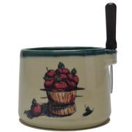 Dip Bowl with Spreader Knife - Apple Basket